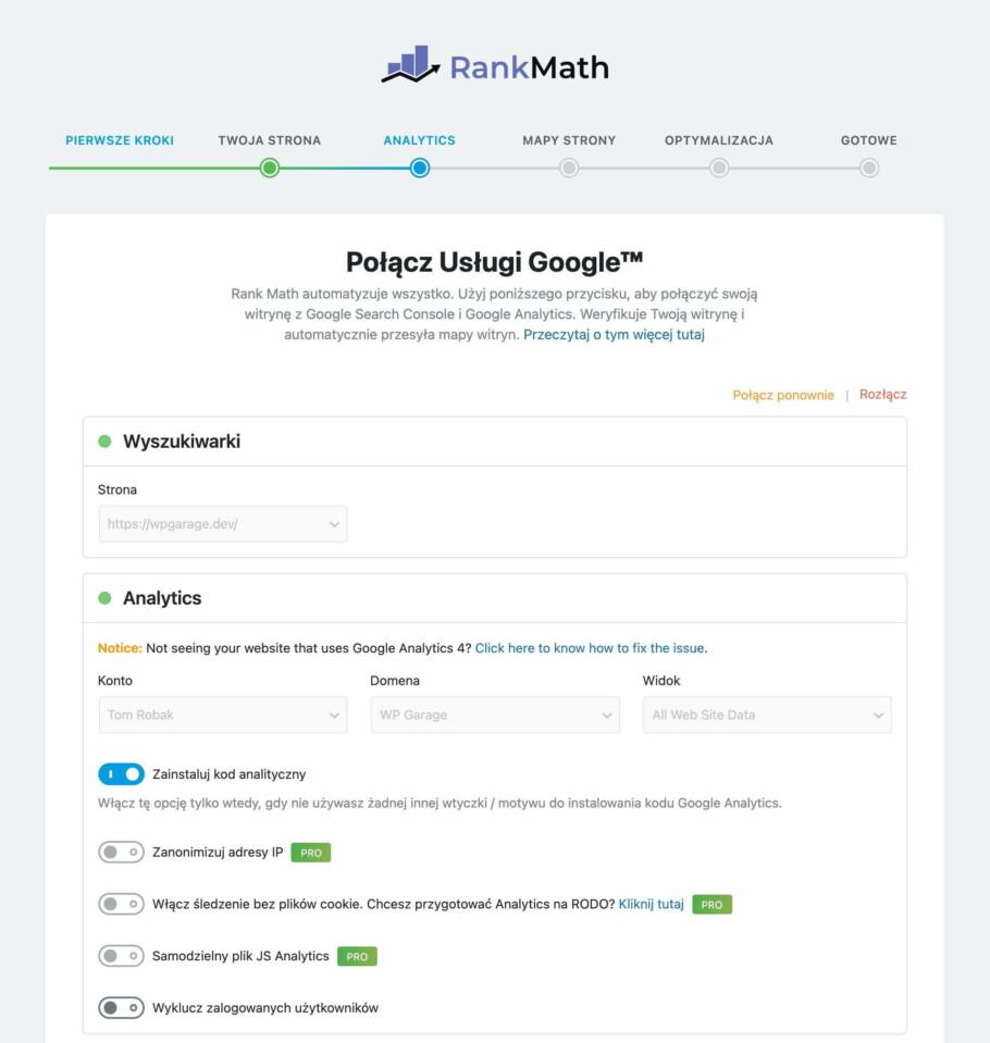 rank math analytics